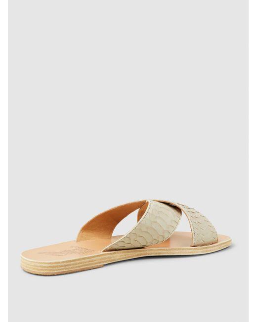 Thais Python-Embossed Cross-Strap Sandals Ancient Greek Sandals vAnoRwQw