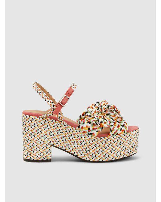 50ee710a8d8d Castaner - Multicolor Woven Raffia Platform Sandals - Lyst ...