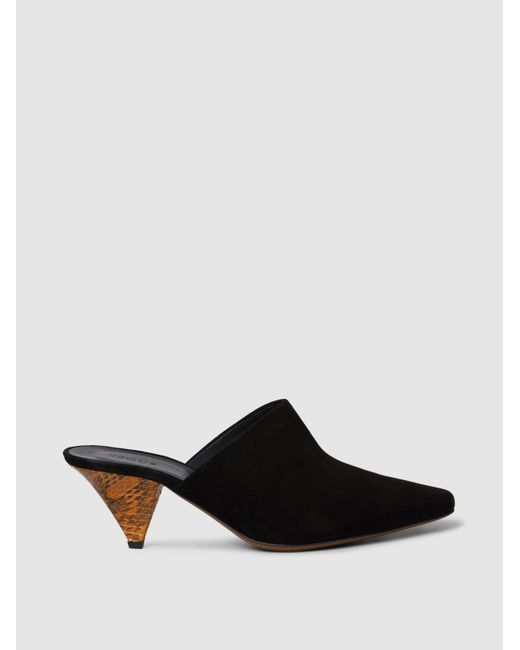 Neous - Black Cina Suede Mules - Lyst