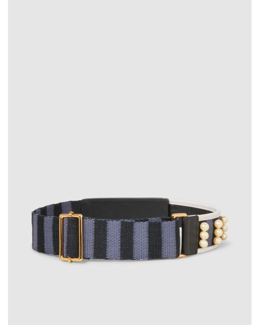 Embellished Woven and Leather Belt Marni cWaxSrrygy