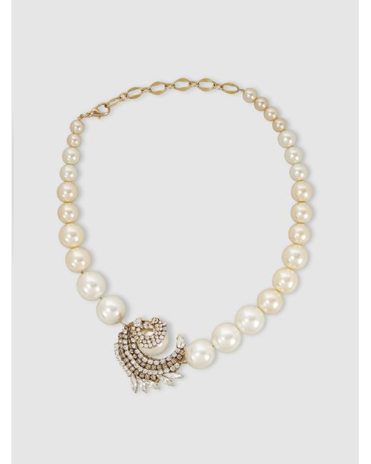 Erickson Beamon - Metallic Delicate Balance Embellished Gold-plated Necklace - Lyst