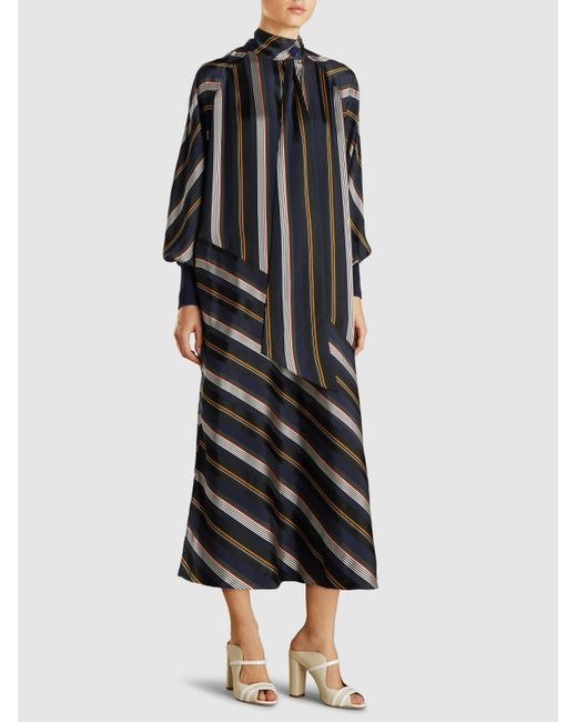 Collections Cheap Online Odelle Striped Satin-jacquard Maxi Dress - Midnight blue Roksanda Ilincic Classic Cheap Price Free Shipping Low Shipping Outlet Pay With Paypal Cheap Sale New Arrival DXcY3tZvfk