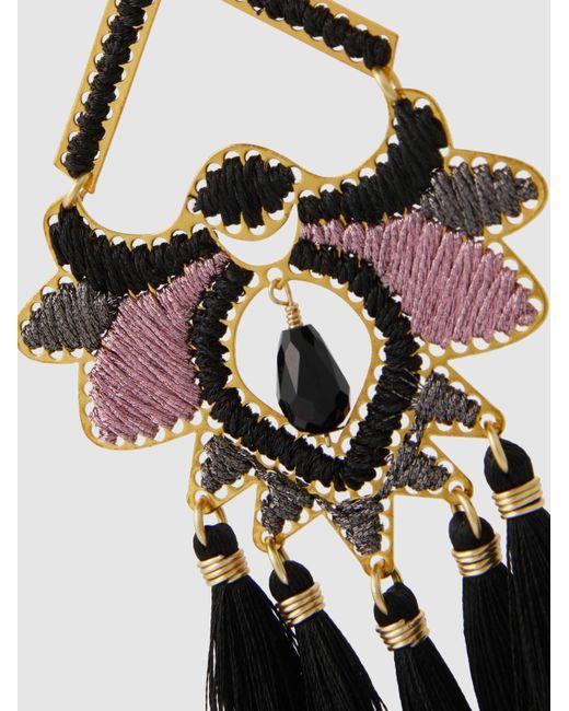 Paramo Rose Fringe Drop Earrings Mercedes Salazar 9MlVNrAge