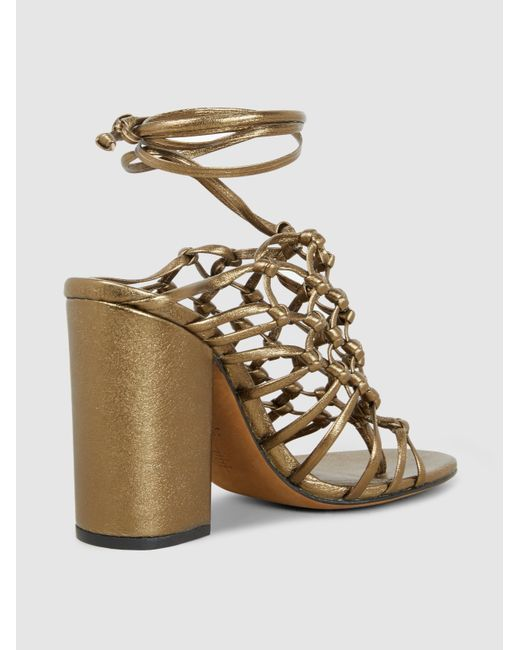 ALUMNAE Woven Leather Sandals vynqVT