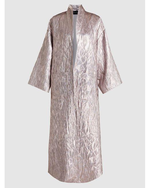 Dima Ayad   Metallic-jacquard Coat   Lyst