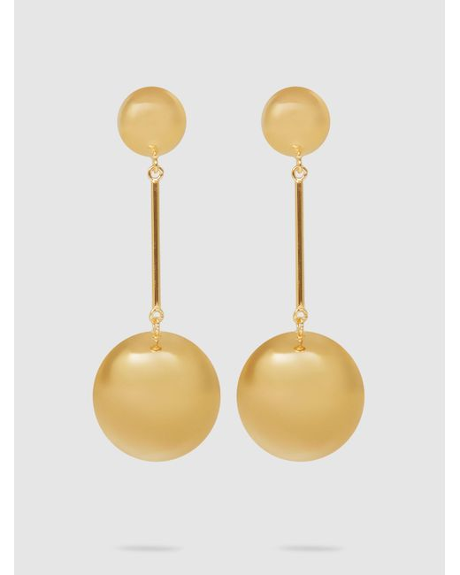 J.W. Anderson - Metallic Gold-plated Sphere Drop Earrings - Lyst
