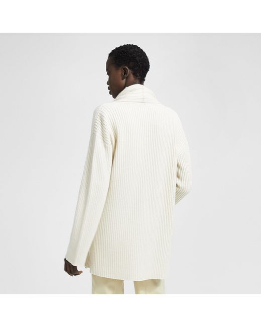c7eba4c5d11 ... Theory - White Alpaca Blend Twisted Turtleneck - Lyst ...