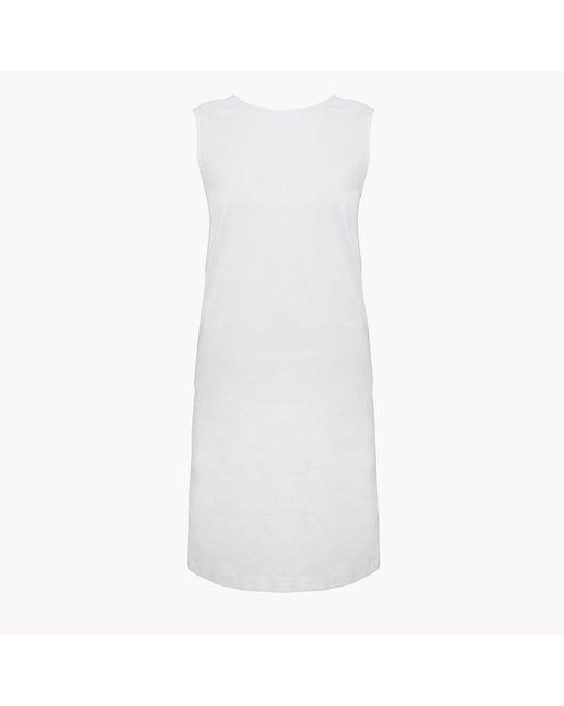 Theory | White Criss-cross Back Shift Dress | Lyst