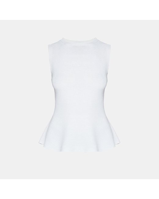 Theory - White Textured Shell Top - Lyst