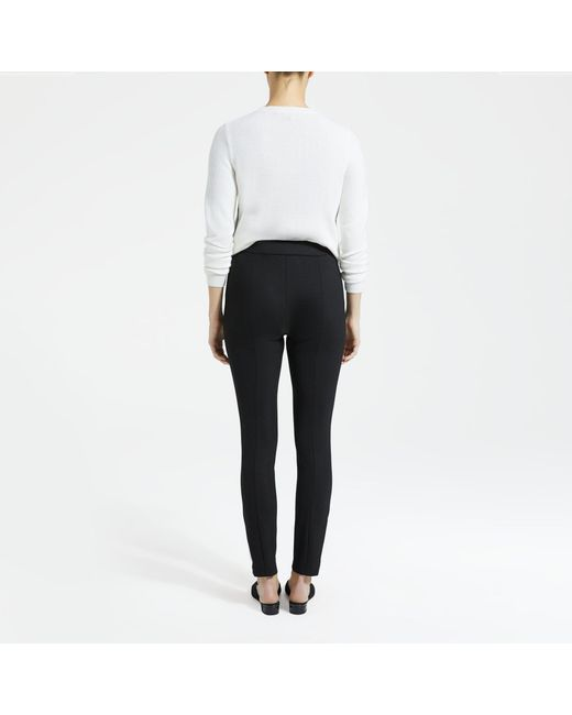 92aac3eb14a19b ... Theory - Black Structured Knit Zip-hem Legging - Lyst