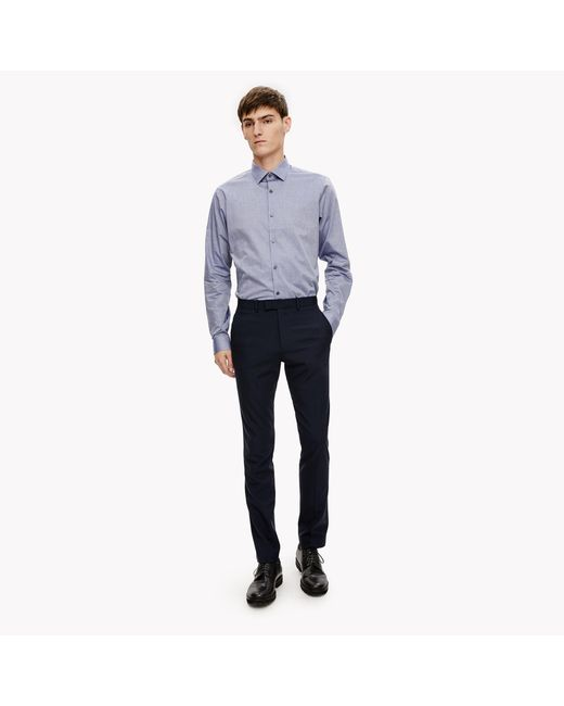 Theory Cotton Chambray Shirt In Blue For Men Lyst