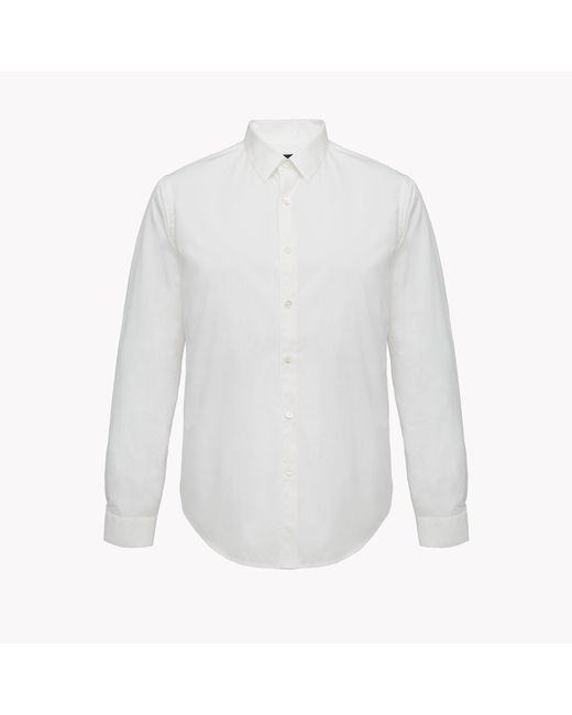 Theory | White Bound Placket Shirt for Men | Lyst