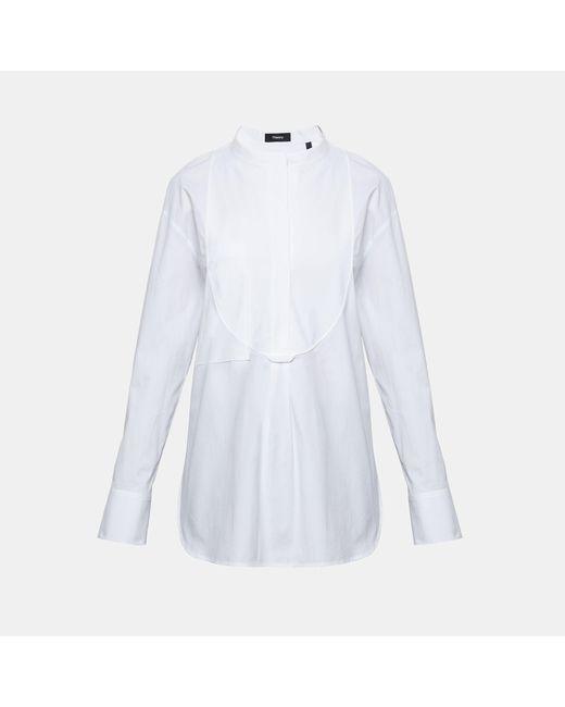 Theory - White Stretch Cotton Bib Shirt - Lyst