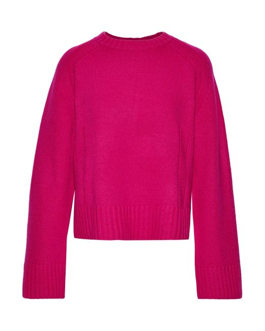 By Malene Birger Pink Sullie Wool-blend Sweater Fuchsia