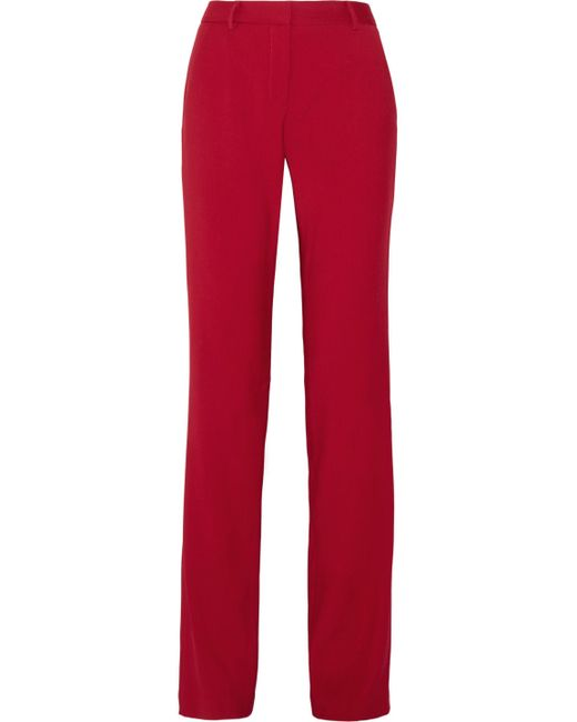 Adam Lippes - Red Twill Straight-leg Pants - Lyst