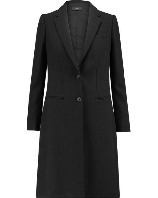 Joseph   Black Button Cuff Twill Coat   Lyst
