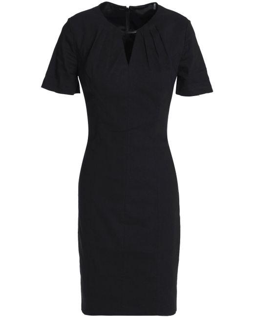 Elie Tahari - Black Cutout Linen-blend Dress - Lyst