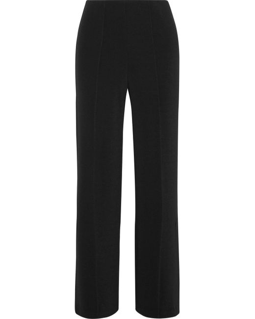 By Malene Birger - Black Mulanas Stretch-crepe Wide-leg Pants - Lyst