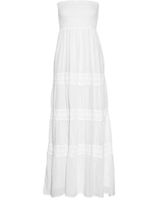 Melissa Odabash - White Ruby Crocheted Lace-paneled Voile Maxi Dress - Lyst