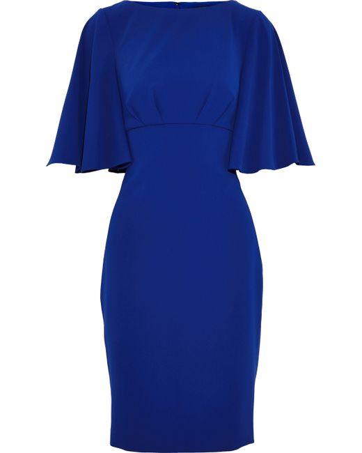 Badgley Mischka - Blue Crepe Dress - Lyst