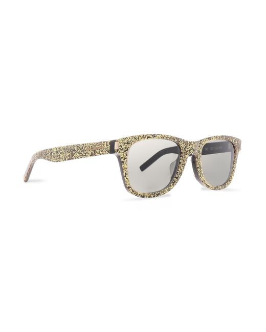642c7cdbae7 ... Saint Laurent - Metallic Woman D-frame Glittered Acetate Sunglasses  Gold - Lyst ...