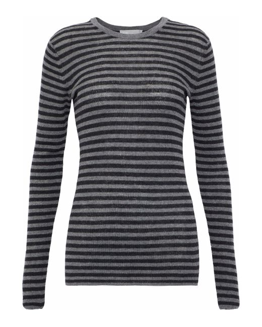 Vince - Striped Cashmere Top Dark Gray - Lyst