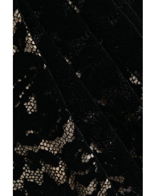 f7e0ab5aa4 ... Christopher Kane - Woman Pleated Flocked Lace Mini Wrap Skirt Black -  Lyst