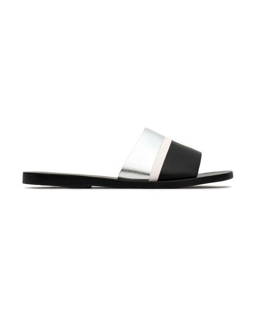 Ancient Greek Sandals - Black Taygete Studded Leather Slide Sandal - Lyst