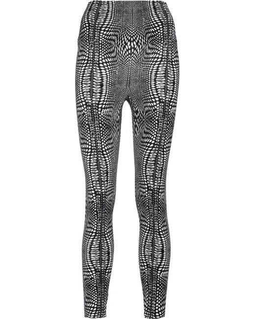 Norma Kamali - Black Printed Stretch-jersey Leggings - Lyst