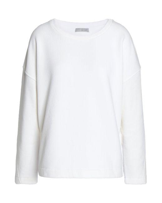 Vince - White Cotton-blend Fleece Sweatshirt - Lyst