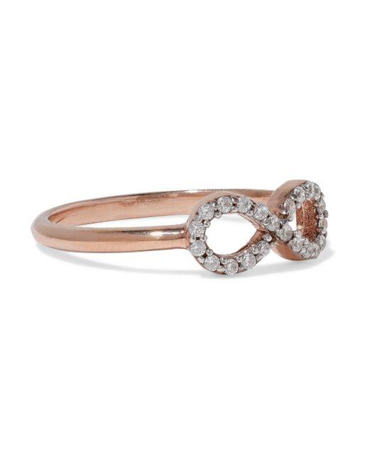 Aamaya By Priyanka - Metallic Infinity Rose Gold-plated Sterling Silver Crystal Ring - Lyst