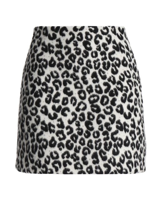 Maje - Multicolor Leopard-print Felt Mini Skirt - Lyst