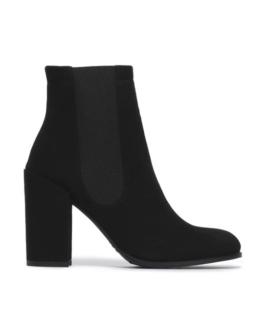 Stuart Weitzman - Black Sidemover Suede Ankle Boots - Lyst