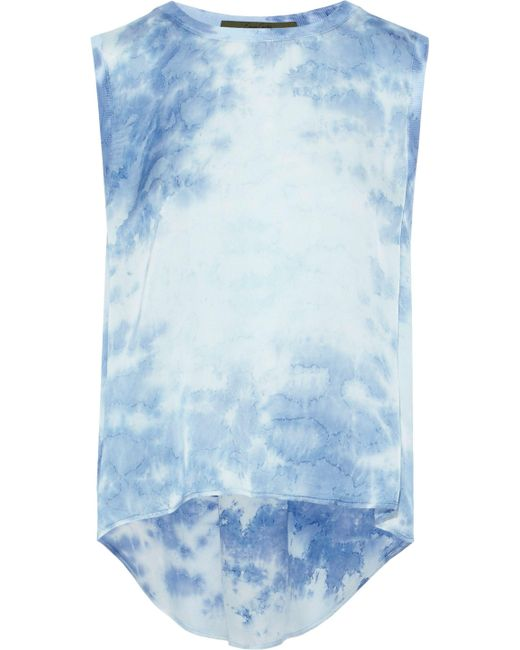Enza Costa - Blue Tie-dyed Jersey Top - Lyst