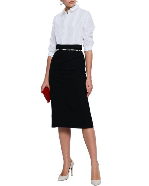 3219a303f1654 ... Carolina Herrera - Woman Silk-taffeta Shirt Off-white - Lyst ...