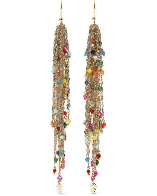 Rosantica - Metallic Woman Arsella Gold-tone Beaded Earrings Multicolor - Lyst