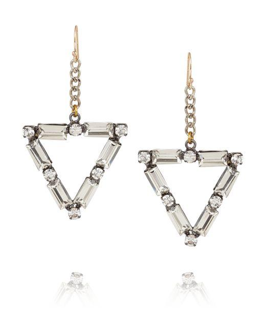 Lulu Frost | Metallic Empire Oxidized Silver-tone Crystal Earrings | Lyst