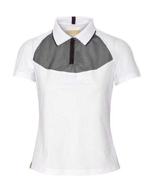 Monreal London | White Mesh-paneled Stretch-jersey Top | Lyst