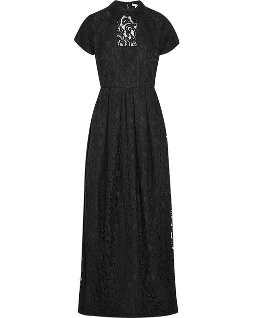 Carven | Black Guipure Lace Gown | Lyst