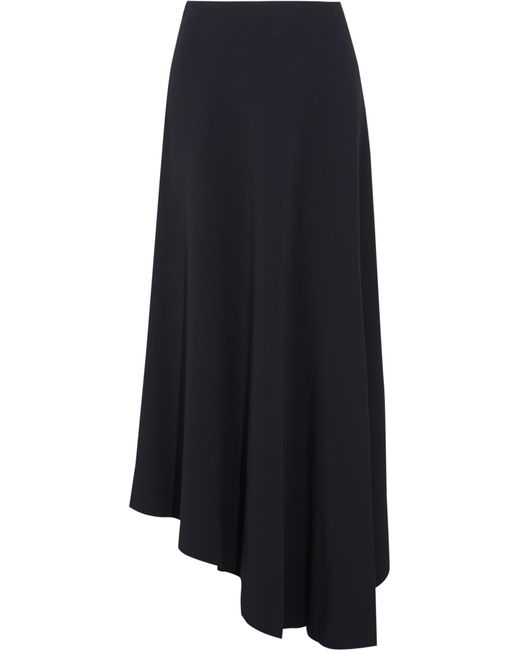 marni asymmetric stretch cady maxi skirt in blue lyst