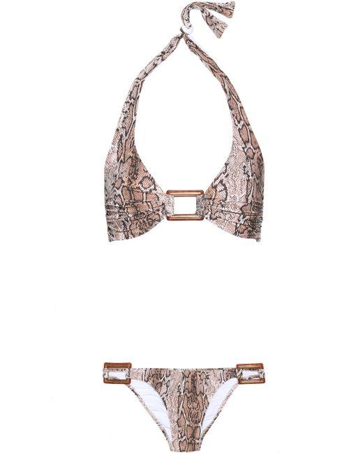 Melissa Odabash - Multicolor Paris Ruched Halterneck Bikini - Lyst