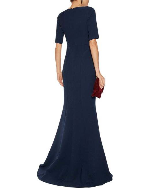 ... Safiyaa | Blue Crepe Gown | Lyst ...