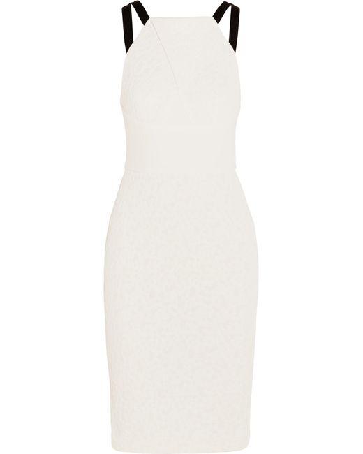 Roland Mouret   White Elvaston Crepe-paneled Cloqué Dress   Lyst