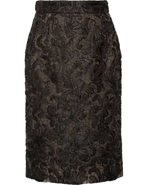 Dolce & Gabbana | Black Lace And Tulle Skirt | Lyst
