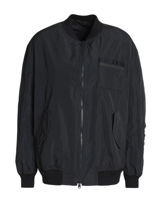 Brunello Cucinelli - Black Bead-embellished Shell Bomber Jacket - Lyst