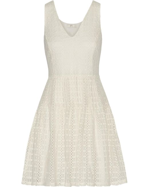Joie | White Pruitt Crocheted Cotton Mini Dress | Lyst