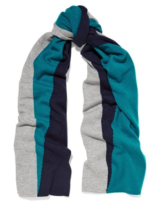 Magaschoni | Blue Color-block Cashmere Scarf | Lyst