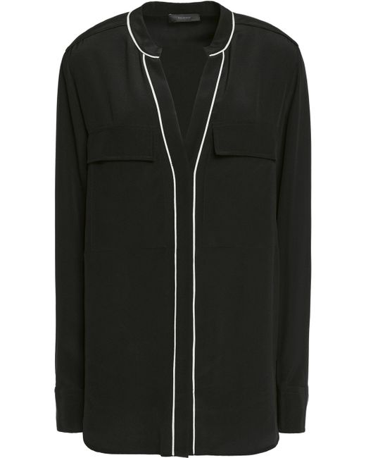 Belstaff | Black Milton Silk-crepe Shirt | Lyst