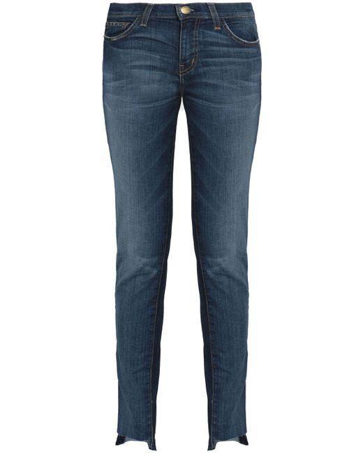 Current/elliott Woman Faded Flared Jeans Mid Denim Size 24 Current Elliott yQH4t
