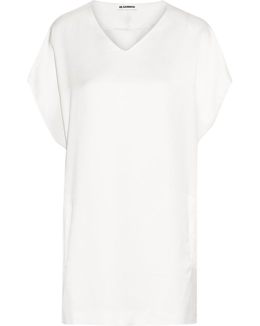 Jil Sander | White Oversized Twill Top | Lyst